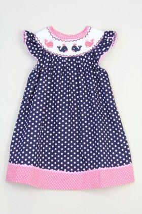 Blue Polka Dot Dress - Tutu And Lulu