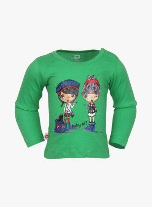 Girls Baby Bff Graphic Green Top - Baby League