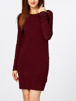Sweater Dress With Metallic Details -red - Kiabi