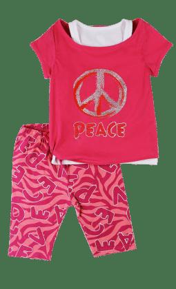 Top And Three Fourth Pant Set- Fushia - Baby Ziggles