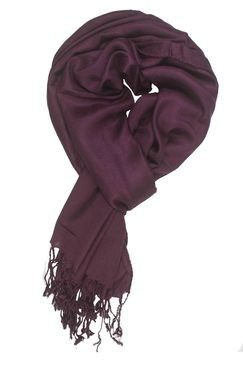 In-sattva Colors – Soft And Elegant Solid Color Scarf Stole Maroon - In Sattva