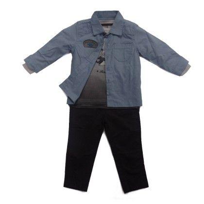 Set For Baby (shirt, T-shirt And Pants) - Mundi - 209499