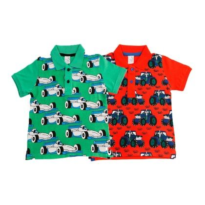 Green & Red Kids T Shirt Combo Pack Of 2 - Huntler