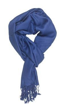 In-sattva Colors – Soft And Elegant Solid Color Scarf Stole Blue - In Sattva
