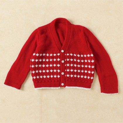 Red & White Christmas Sweater - Knitting Nani