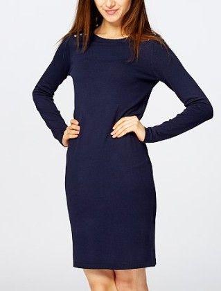Sweater Dress With Metallic Details -blue - Kiabi