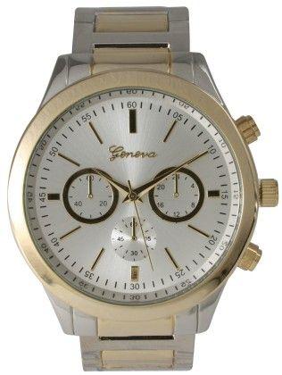 Vernier Women's Classic Feminine Silver & Gold Tone Bracelet Watch - Vernier Watches