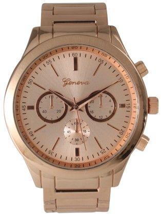 Vernier Women's Classic Feminine Bronze Tone Bracelet Watch - Vernier Watches