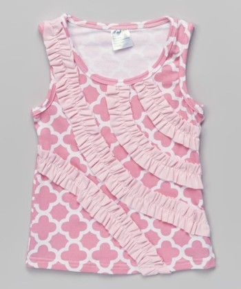 Pink Sleeveless Top With Pink Frills - Tutu And Lulu