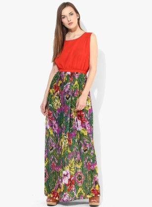 Dressvilla Multi Printed Long Dress