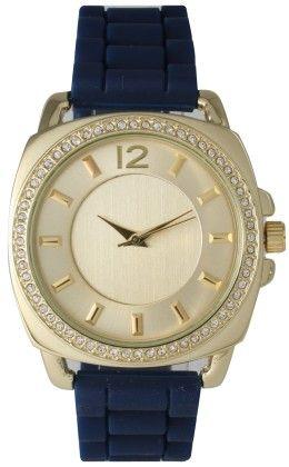 Vernier Women's Classic Feminine Navy Blue Bracelet Leather Strap - Vernier Watches