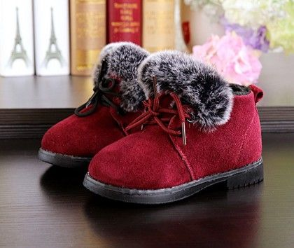 Red Furry Shoes With Tie Up Laces - Dancing Toes