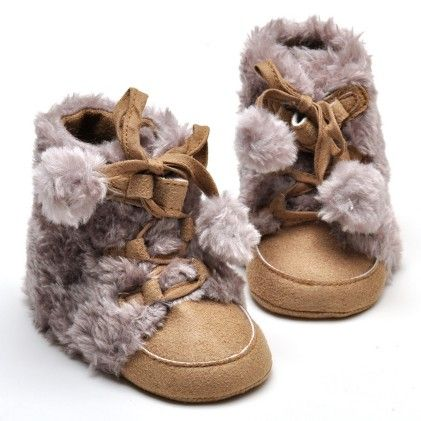Cute Creative Double Ball Lace Up Anti Slip Shoes-dk Brown - Aww Hunnie!!