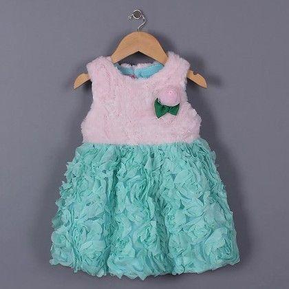 Pink Party Wear Dress - Petite Kids