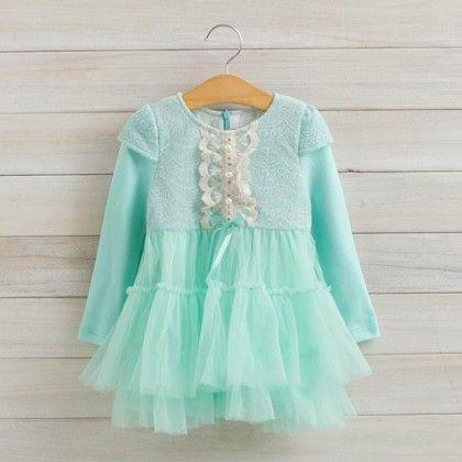 Mint Party Wear Dress - Petite Kids