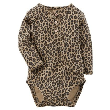 Animal Printed  Bodysuit - Carter's