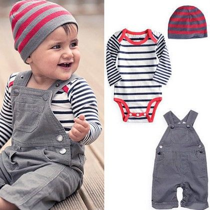 3 Piece Set For Babies. Romper + Pants Cap - Kidsloft
