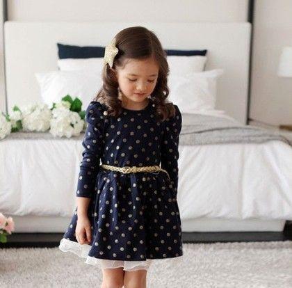 Long Sleeves Dress Navy Blue - Drape In Vogue