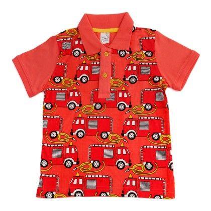 Pink Polo Neck T Shirt - Huntler