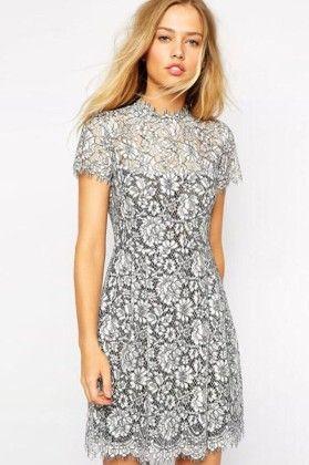 Floral Lace Dress - Drape In Vogue