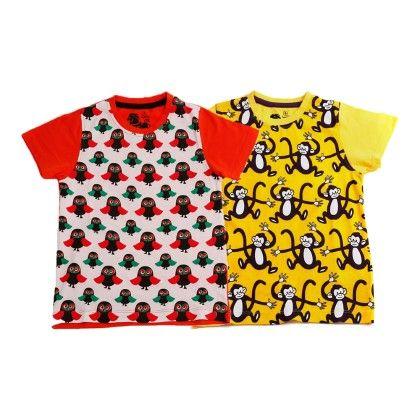 White & Yellow Kids T Shirt Combo Pack Of 2 - Huntler
