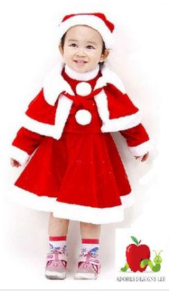 Dress + Cloak + Hat Suits Infants New Year Clothes - Adores