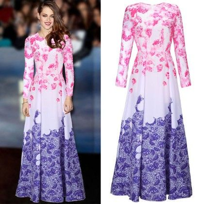 Pink And Purple Rose Dress - Drape In Vogue
