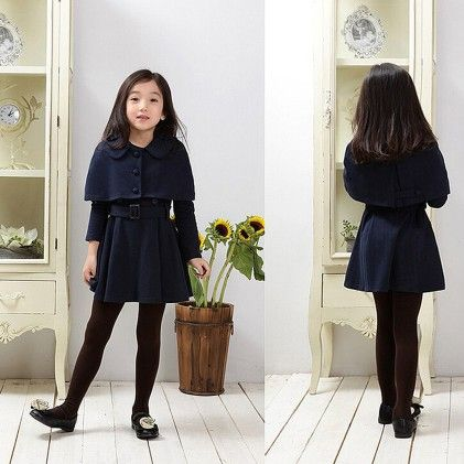 Navy Winter Party Frock - Lil Mantra