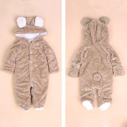 Baby Toddler Animal Romper - Camel - Kidsloft