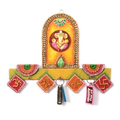 Key Holder Shubh Labh Ganpati - Color Crave