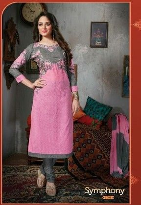 Pink Semi Stitched Suit - Fashion Fiesta