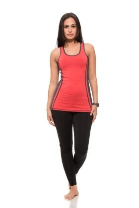 Womens Thick Layered Active Racerback Tank Top- Red - S2 Sportswear