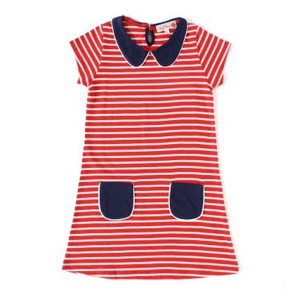 Red And White Striped Dress - ChipChop