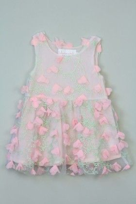 Pink Floral Laced Dress - Tutu And Lulu