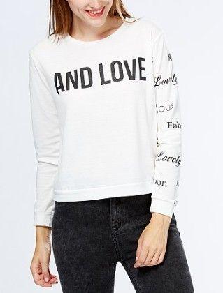 Slogan Print T-shirt White - Kiabi