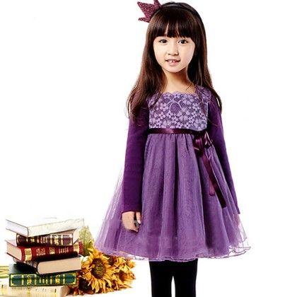 Purple Party Wear Dress - Petite Kids