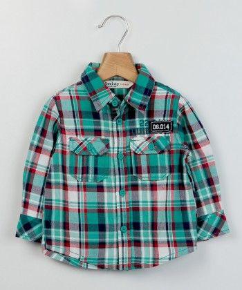 Teal Green Check Shirt Green Check - Beebay