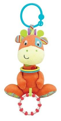 Patch The Giraffe Hand Rattle, Squeakers, Crinkle With Sound - Little Pals