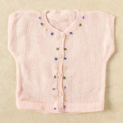 Baby Pink Vest - Knitting Nani