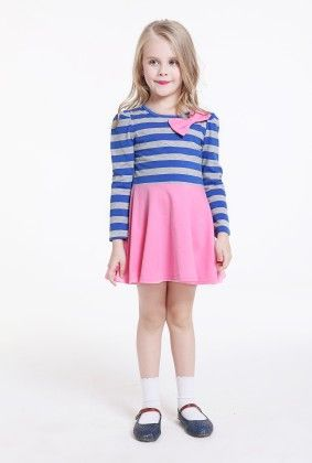 Stripped Casual Dress - Pink - Sassy Girl