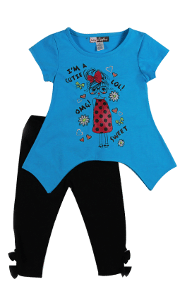 Toddler Set - Blue - Baby Ziggles