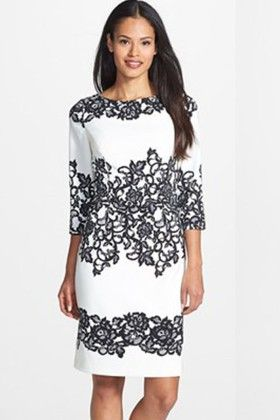 Black And White Printed Dress - Enigma