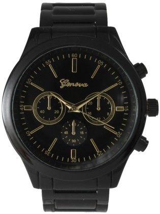 Vernier Women's Classic Feminine Black Tone Bracelet Watch - Vernier Watches