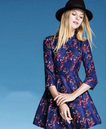 Long Sleeve Skater Dress - Drape In Vogue