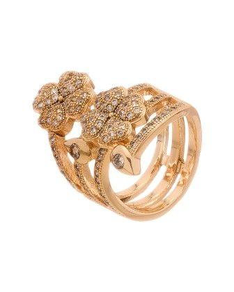 Splendid Yellow Gold Toned Ring - Voylla