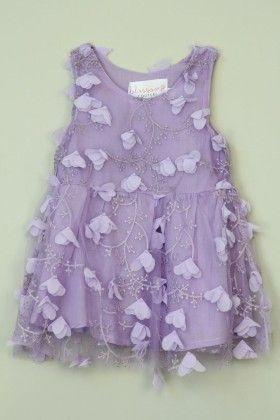 Lavender Floral Laced Dress - Tutu And Lulu