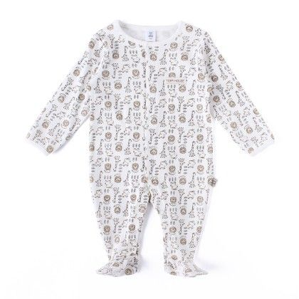 Animals Allover Print Soft Sleepsuit - TOFFYHOUSE