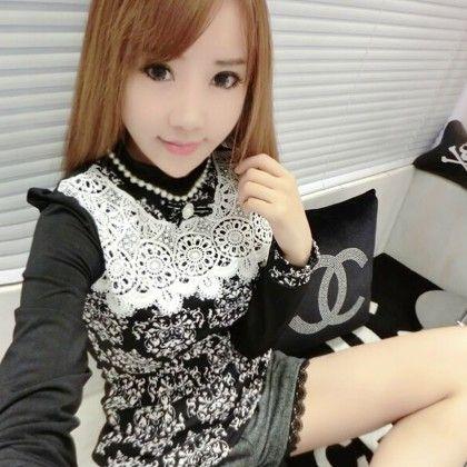 Black Lace Top - STUPA FASHION