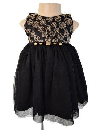 Gold  &  Black Party Dress  - Black & Gold - Faye