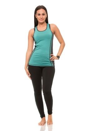 Womens Thick Layered Active Racerback Tank Top - Green - S2 Sportswear